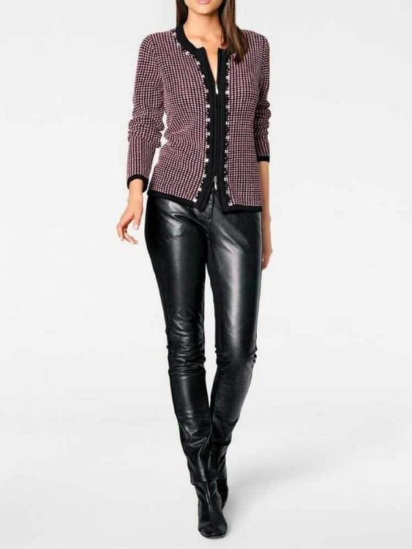 <b>Ashley Brooke</b> Strickjacke mit Strass