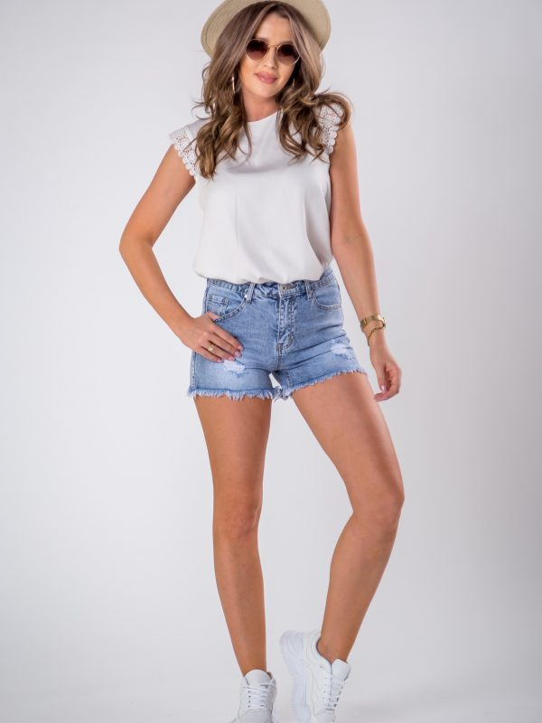 <b>OH MY GOODNESS</b> Destroyed Jeans Shorts