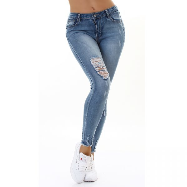 <b>Gold Sk</b> Destroyed Jeans